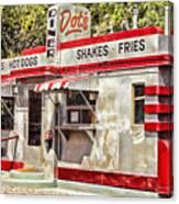 Dots Diner Bisbee Az Canvas Print