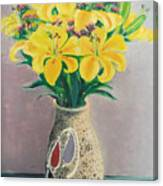 Dotted Vase Canvas Print