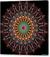 Dotted Wishes No. 4 Mandala Canvas Print