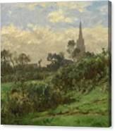 Douarnenez Steeple Canvas Print