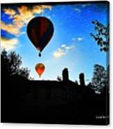 Double Balloons  Canvas Print