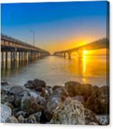 Double Bridge Sunrise - Tampa, Florida Canvas Print