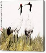 Double Crane Canvas Print