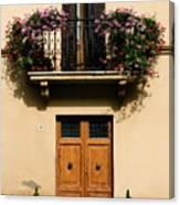 Double Doors And Balcony Canvas Print