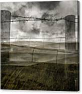 Double Exposure Landscape Canvas Print