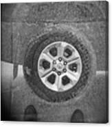 Double Exposure Manhole Cover Tire Holga Photography Canvas Print