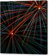 Double Fireworks Canvas Print