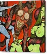 Double Girl Hypno-snake Canvas Print