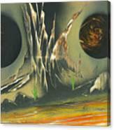 Double Moon Desert Canvas Print
