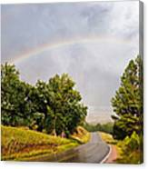 Double Rainbow At Devils Tower Canvas Print