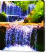 Double Waterfall Canvas Print