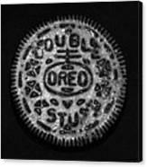 Doulble Stuff Oreo In Black And White Canvas Print