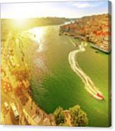 Douro River At Sunset Canvas Print