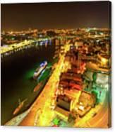Douro River Skyline Night Canvas Print
