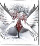 Doves Of Peace Canvas Print