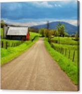 Down A Country Lane Canvas Print