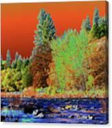 Down Along The Spokane River Canvas Print