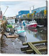 Down At Widgery Wharf Canvas Print