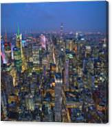 Down In The City  Canvas Print