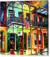 Down On Bourbon Street Canvas Print