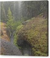 Down Pour At Boulder Cave Canvas Print