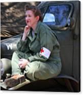 Down Time-us Army Nurse Corps Canvas Print