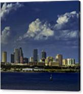 Down Town Tampa Canvas Print