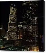 Downtown Atlanta Lights Canvas Print