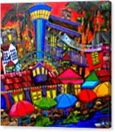Downtown Attractions Canvas Print