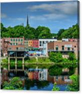 Downtown Augusta, Maine Canvas Print