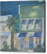 Downtown Books Three Canvas Print