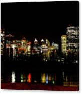 Downtown Calgary At Night Canvas Print