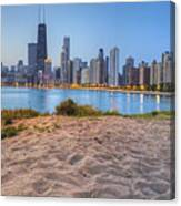 Downtown Chicago From North Beach Canvas Print