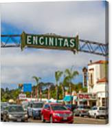 Downtown Encinitas Canvas Print