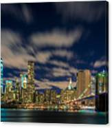 Downtown From Brooklyn Canvas Print