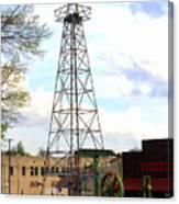 Downtown Gladewater Oil Derrick Canvas Print
