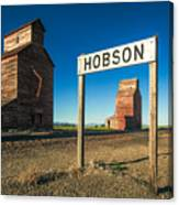 Downtown Hobson, Montana Canvas Print
