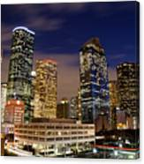 Downtown Houston At Night Canvas Print