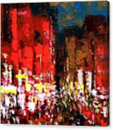 Downtown Lights Canvas Print