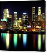 Downtown Los Angeles Reflection Canvas Print