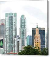 Downtown Miami Canvas Print