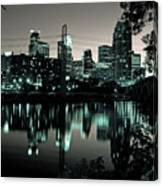 Downtown Minneapolis At Night II Canvas Print