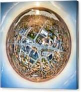 Downtown Mukwonago Little Planet Canvas Print
