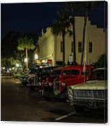 Downtown Old Cars Canvas Print