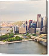Downtown Pittsburgh Pennsylvania Canvas Print