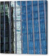 Downtown Reflection Canvas Print