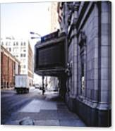 Downtown Saint Louis Street Photo Canvas Print