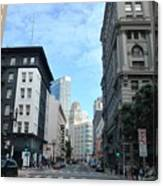 Downtown San Francisco Street Level Canvas Print
