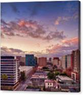 Downtown San Jose From City Heights Canvas Print