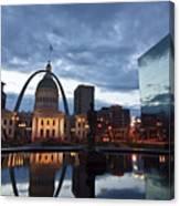Downtown St. Louis At Dawn Canvas Print
